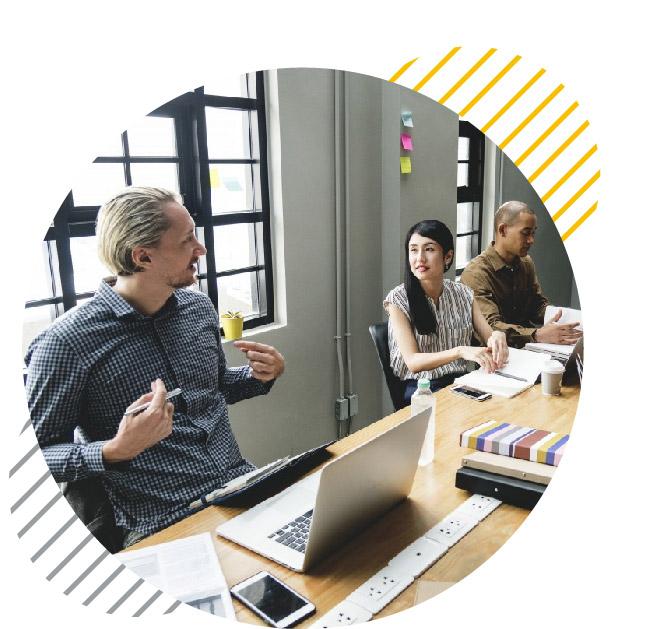 Jacobdeen Team meeting office